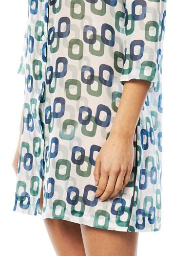 Laura Manara Ruby chain-print silk kaftan