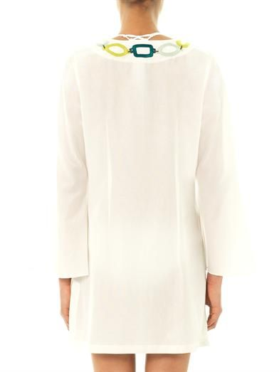 Laura Manara Tiffany silk and cotton-blend kaftan