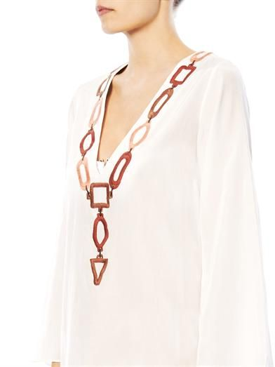 Laura Manara Tiffany silk-cotton kaftan