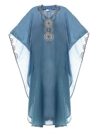 Laura Manara Viv mallard cotton-silk kaftan