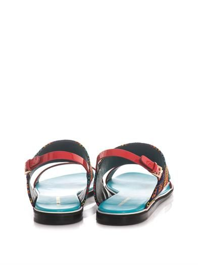 Nicholas Kirkwood Mexican embroidered and leather sandals