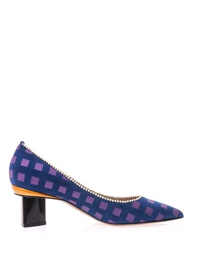 Nicholas Kirkwood Printed suede point-toe pumps