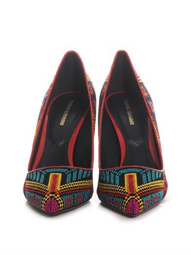 Nicholas Kirkwood Mexican embroidered pumps