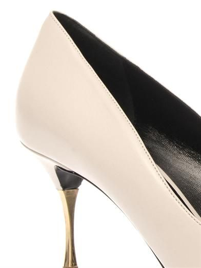 Nicholas Kirkwood Point-toe leather pumps