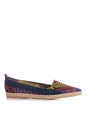 Mexican embroidered espadrilles