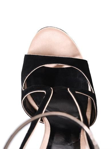 Nicholas Kirkwood Suede, satin and crystal ball sandals