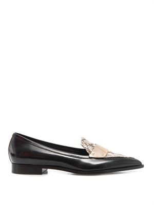 Penny platino strap loafers