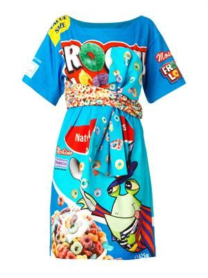 Froggy-print tie-front dress