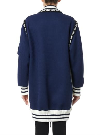 Moschino Longer-length wool bomber jacket