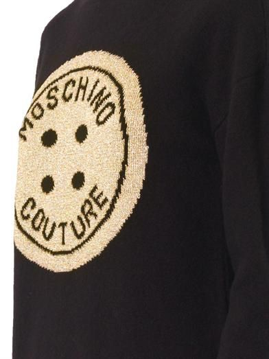 Moschino Couture button intarsia-knit sweater