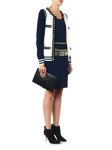 Moschino Wool and cashmere-blend knit cardigan