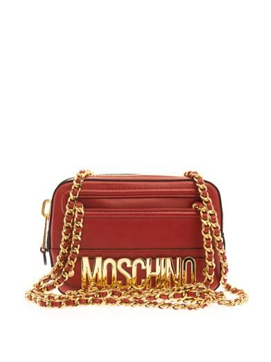 Moschino Lettering leather shoulder bag