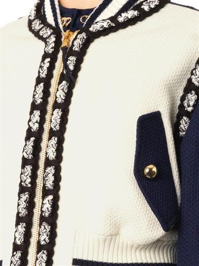 Moschino Shorter-length wool bomber jacket