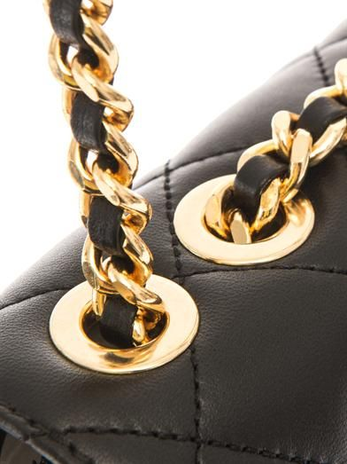 Moschino Lettering quilted leather bag