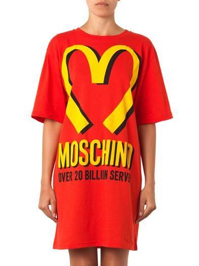 Moschino Logo-print oversized T-shirt