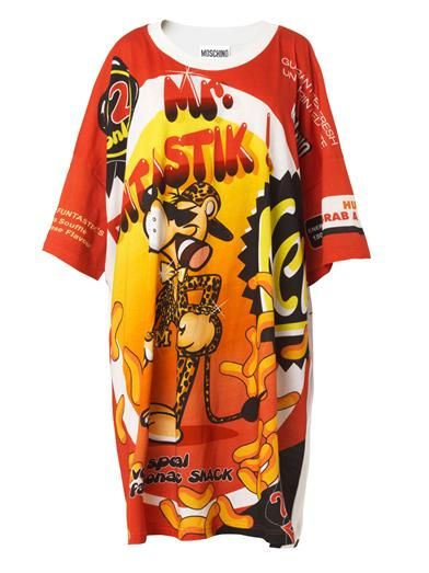 Moschino Mr Funtastik-print T-shirt dress