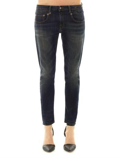 R13 Boy mid-rise skinny jeans