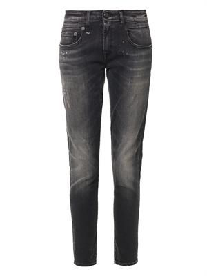 Distressed mid-rise Boy Skinny jeans
