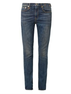 Slouch low-slung relaxed skinny jeans