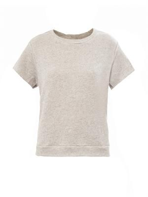 Short-sleeved cotton sweatshirt