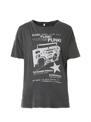 Punk-print T-shirt