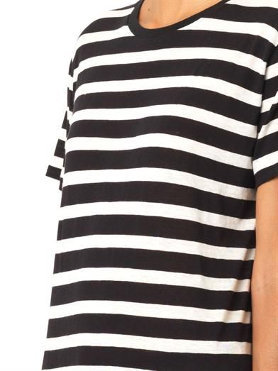 R13 Striped cotton and cashmere T-shirt