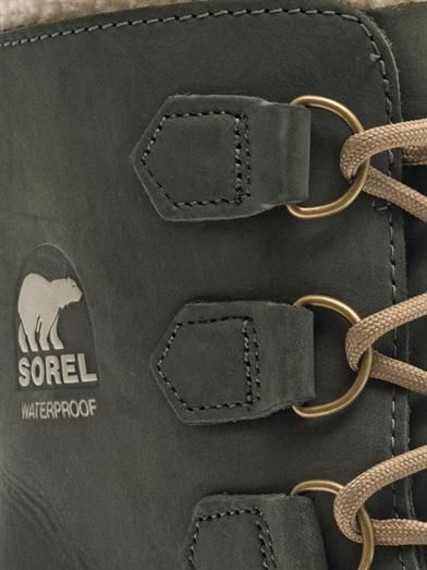 Sorel Coal suede and rubber boots