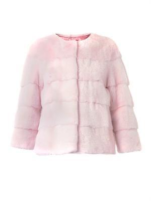Sarah bi-colour mink fur jacket
