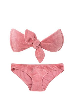 Poppy terry-cloth bikini