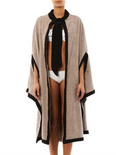 Lisa Marie Fernandez Terry bi-colour beach cape