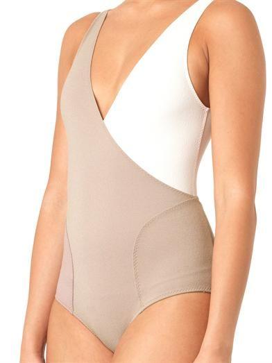 Lisa Marie Fernandez Athena bi-colour swimsuit