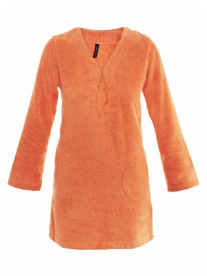Terry key-hole toweling tunic dress