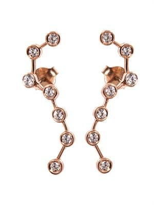 Constellations rose gold-plated earcuffs