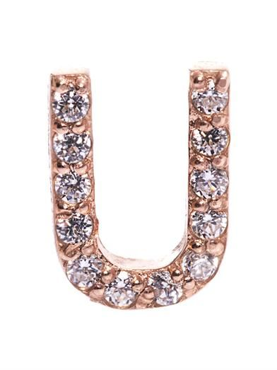 Aamaya by Priyanka Screw U rose gold-plated earrings