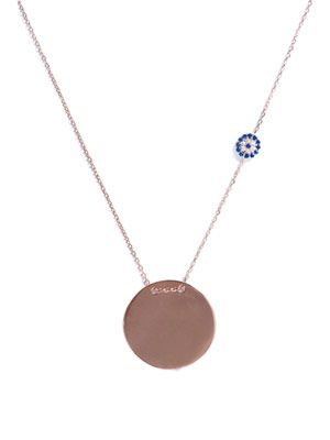 Nazar and disk charm gold-plated necklace