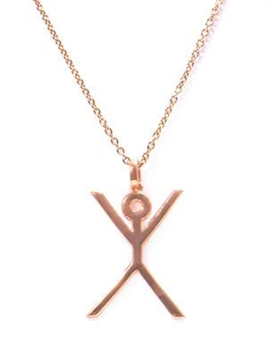 Hangman gold-plated necklace
