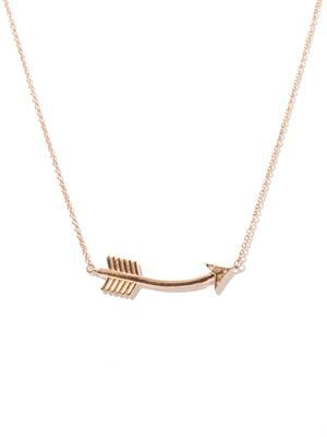 Topaz & rose gold-plated arrow necklace