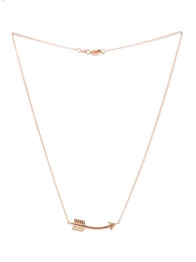 Aamaya by Priyanka Topaz & rose gold-plated arrow necklace