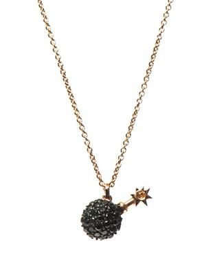 Bomb rose gold-plated necklace