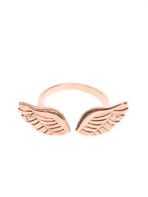 Angel Wings rose-gold plated ring