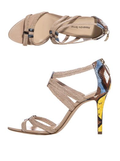 Alexandre Birman Raffia and leather sandals