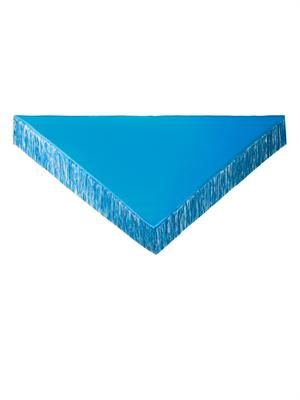 Suede tassel cashmere wrap