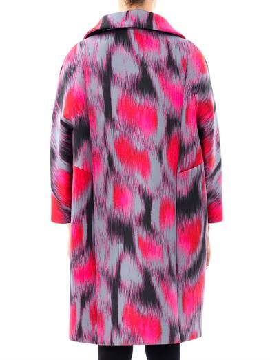Giles Leopard-print neoprene coat