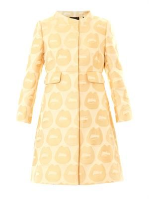 Lips jacquard coat