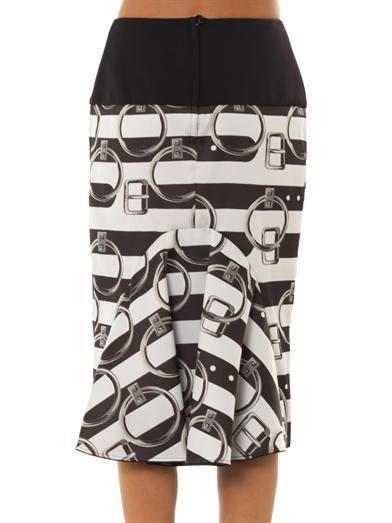 Giles Jacquard stripe skirt