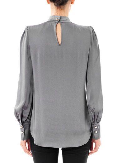 Giles Spike collar satin blouse