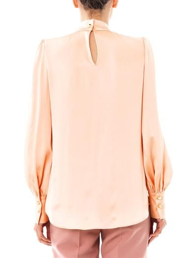 Giles Spike collar satin blouse