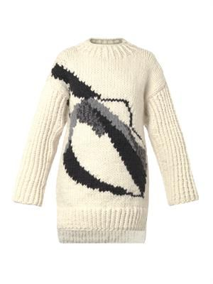 Couture oversized wool sweater