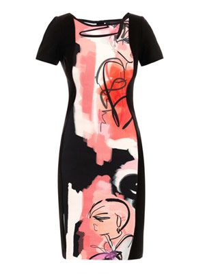 Giles girls illustrated illusion dress