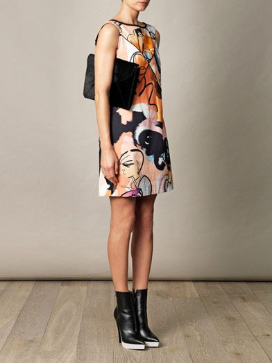 Giles Giles girls illustrated canvas shift dress